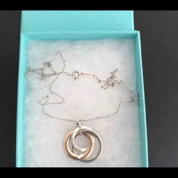 Tiffany & Co. Jewelry - Return to Tiffany 3 interlocking rings necklace